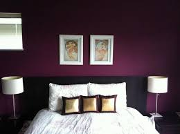 Bedroom Accent Wall. Beautiful shade of purple-- this is the color I want