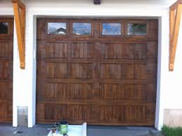 image of faux wood garage doors diy