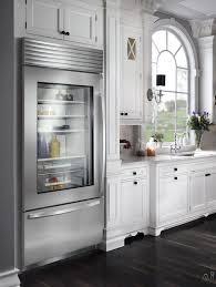 glass door refrigerator kitchen cabinets