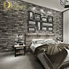 Goede Koop Moderne Vintage Baksteen Geweven Behang Voor Muren Decor