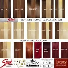 350 Hair Color Chart Colour Chart