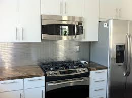Steel Backsplash Kitchen Kitchen Custom Backsplash For Kitchen Be Equipped With Stainless