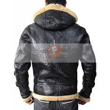 aviator er b3 ivory genuine leather with faux fur leather jacket with hoo men s leather