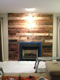 pallet wood fireplace entertainment wall