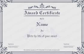 award certificates template dignified award certificate template get certificate templates