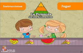 Resultado de imagen de piramide de los alimentos para niños JUEGO