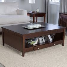 modern square coffee table with storage espresso dark tables round wood top granite living room glass and end white low plastic set high black