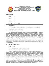 Revised Format Traffic Accident Inves Report Form 1
