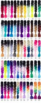 Ombre Braiding Hair Color Chart 1 Piece Tones Braid Hair 24 Jumbo Braids 100g Ombre Tones Braiding Hair Extension View Ombre Braiding Hair Jinbang Product Details From Luohe