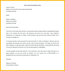 Lease Termination Letters End Of Tenancy Agreement Letter From Landlord Template Commercial