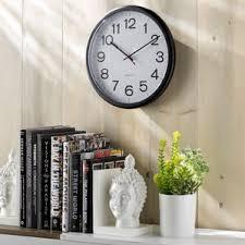 office large size floor clocks wayfair. Wayfair Basics IndoorOutdoor Round Wall Clock Office Large Size Floor Clocks