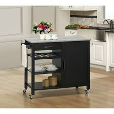 Kitchen Carts With Granite Top Furniture Modern Black Mobile Kitchen Carts And Portable Kitchen