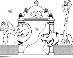 Dierentuin Kleurplaat De Dierentuin Wordt Ook Wel Zoo Genoemd