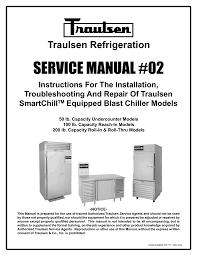 Blast Freezer Design Manual Traulsen Rbc100 Blast Chiller Reach In Unit Manualzz Com