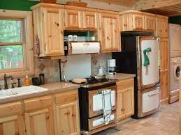 Rustic Kitchen With Light Brown Australian Cypress Unfinished - Cypress kitchen cabinets