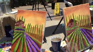 students enjoy learning to paint with jill roberts art plus vino cl in temecula