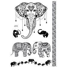 359 Blacklace Henna Indická Tělo Dočasné Tetování Nálepka Sexy Pro ženy Dospívající Dívky 7 Vzory V 1 List J018