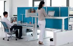 standing desk office. Height-adjustable Desks Boost Office Health Standing Desk