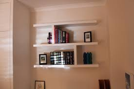 Self Assembly Fitted Bedroom Furniture Book Cases And Shelves Floating Shelves Fitted Between The Wall