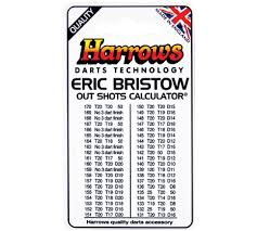 Out Chart Darts Eric Bristow Out Shots Chart