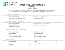 Catering Menu Templates Free Sample Example Format Download Format ...