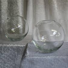medium clear glass fishbowl