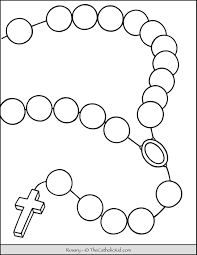 Coloring page of the day. Large Rosary Coloring Page Thecatholickid Com