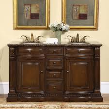 double sink vanity bathroom. amazon.com: silkroad exclusive granite ivory stone top double sink bathroom vanity with cabinet, 60-inch: home \u0026 kitchen