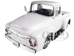 1956 Ford F-100 Pickup Truck White Just Trucks 1/24 Diecast Model ...