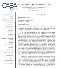 Obama Resume CABA Letter To President Barack Obama Cuban American Bar Association 17