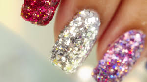 full nail glitter nail art