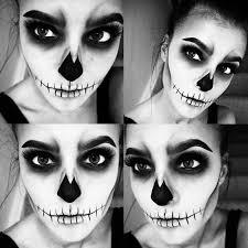apply skull makeup photo