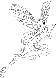 Tô màu công chúa winx   Công chúa, Flora, Phim hoạt hình