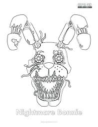 Fnaf Funtime Freddy Coloring Pages Coloring Sheets Nightmare Sheet 4