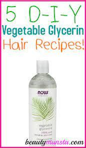 5 vegetable glycerin recipes for hair