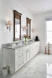 white carrara marble bathroom. One Carrara Marble Bathroom: Four Colours | Maria Killam White Bathroom E