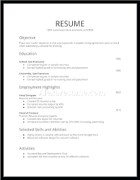 Example Of Basic Resumes Example Of A Simple Resume For A Job Basic Resume Template Word