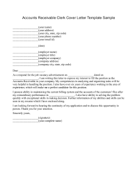 Amazing Sample Cover Letter For Accounts Receivable Position 64 On