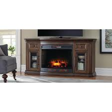 georgian hills 65 in bow front tv stand infrared electric fireplace
