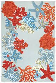 ravella ocean scene indoor outdoor rug blue 24 x8 rvlr8225604