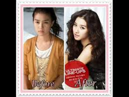 korean actress without make up before after