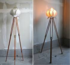 25 absolutely not boring tripod floor lamp designs vintage french modern brass lotus flower