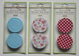 Decorative Mason Jar Lids SET OF 100 Decorative Mason Jar Lids Blue POLKADOT Red PLAID 8