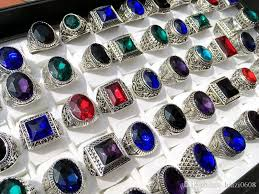 2019 whole mix antique silver rings mens womens vine gemstone jewelry party ring ing ring random style from haizi0608 20 11 dhgate