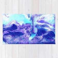 royal blue rug. Swirling Marble In Aqua, Purple \u0026 Royal Blue Rug E