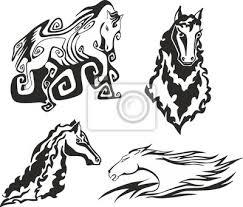 Fototapeta Sada Koně Pro Tetování šablony