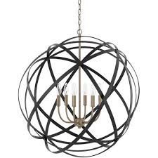 capital lighting 4236ab axis 6 light 30 inch aged brass and black pendant ceiling light