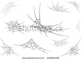 web drawing spider web monochrome vector illustration stock vector hd royalty