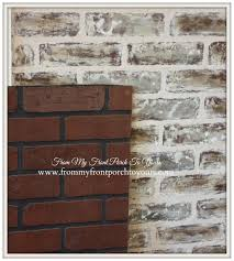 faux brick wall treatment from my front porch to yours