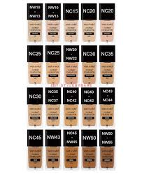 Maybelline Fit Me Foundation Shades Chart Maccosmetics To Wetnwildbeauty Photofocus Foundation Shade